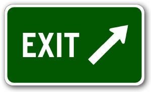 exit sign label